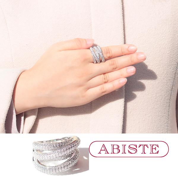ABISTE(アビステ) キュービックジルコニアデザインリング 6191016 アクセサリー ハンドメイド 人気 大人 かわいい おしゃれ ブランド 誕生日 ギフト プレゼント ラッピング無料 20代 30代 40代