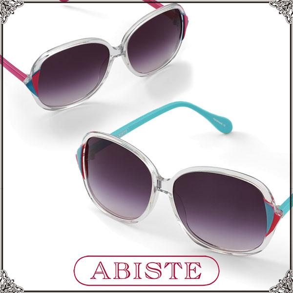 【送料無料】 ABISTE(アビステ) クリアフレームサングラス/Lブルー、ピンク 7300004 サングラス 大人 おしゃれ ブランド ギフト プレゼント 紫外線 対策 UVケア UVカット ラッピング無料