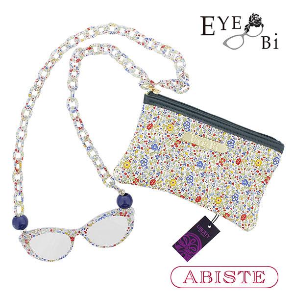 ABISTE(アビステ)【Eye-Bi】リバティプリント(ケイティアンドミリー)リーディンググラスネックレス&ポーチセット 7160030 レディース 女性 ブランド 誕生日 ギフト