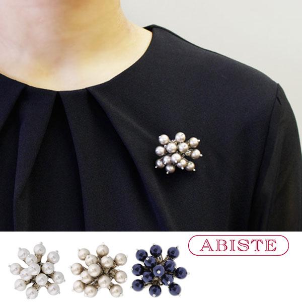 ABISTE(アビステ) フランス製 スワロパールデザインブローチ 5171044 レディース 女性 人気 雑誌 大人 おしゃれ ブランド ギフト ラッピング無料 30代 40代