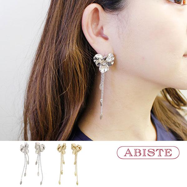 ABISTE(アビステ) フランス製パンジーロングピアス 3170219 レディース 女性 人気 上品 大人 かわいい おしゃれ キラキラ アクセサリー ブランド 誕生日 ギフト 30代 40代