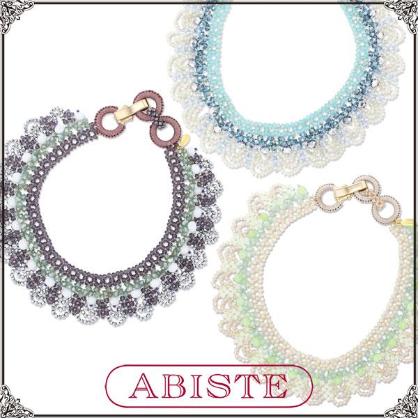 【送料無料】ABISTE(アビステ)ガラスビーズショートネックレス/パープル、ブルー、グリーン1150014 レディース 女性 人気 上品 大人 かわいい おしゃれ アクセサリー ブランド 誕生日 ギフト プレゼント ラッピング無料