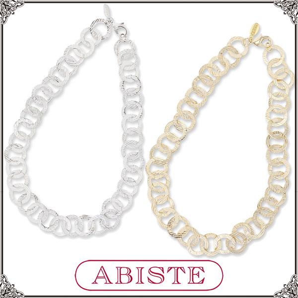 ABISTE(アビステ)デザインメタルチェーンショートネックレス/シルバー、ゴールド1150161 レディース 女性 人気 上品 大人 かわいい おしゃれ アクセサリー ブランド 誕生日 ギフト プレゼント ラッピング無料
