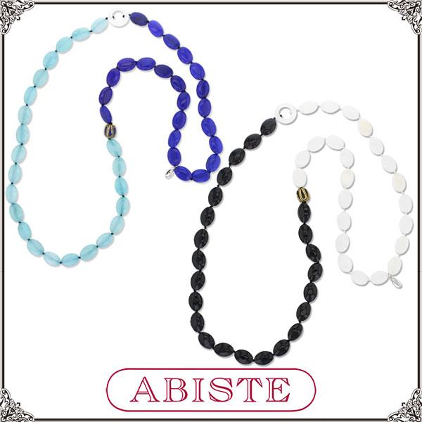 ABISTE(アビステ)アゲートロングネックレス/ターコイズ、ブラック1150330 レディース 女性 人気 上品 大人 かわいい おしゃれ アクセサリー ブランド 誕生日 ギフト プレゼント ラッピング無料