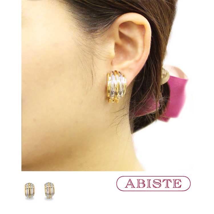 ABISTE(アビステ) メタルイヤリング/ツートーン 3401047 レディース 女性 人気 上品 大人 かわいい おしゃれ アクセサリー ブランド 誕生日 ギフト プレゼント ラッピング無料
