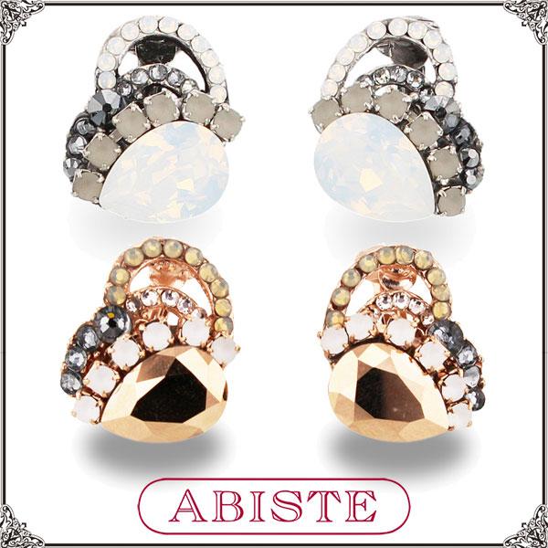 ABISTE(アビステ) デザインイヤリング/Lブラウン、ブラック 3401079 レディース 女性 人気 上品 大人 かわいい おしゃれ アクセサリー ブランド 誕生日 ギフト プレゼント ラッピング無料