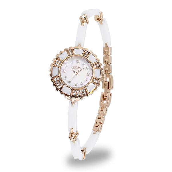 【送料無料】ABISTE(アビステ) デザインラウンドフェイスセラミック時計/ホワイト 9150052P/W レディース 女性 人気 上品 大人 かわいい おしゃれ アクセサリー ブランド 誕生日 ギフト プレゼント ラッピング無料 腕時計 ウォッチ