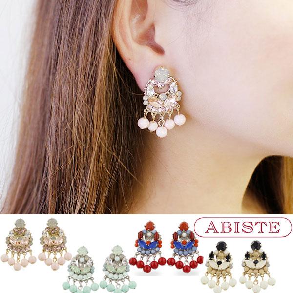 ABISTE(アビステ) イタリア製ビーズフリンジイヤリング 3170265 レディース 女性 人気 雑誌 大人 おしゃれ 腕時計 ブランド ギフト ウォッチ ラッピング無料 30代 40代