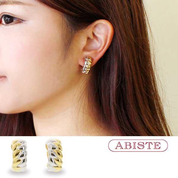 ABISTE(アビステ)デザインハーフフープイヤリング 3181053 レディース 女性 人気 上品 大人 かわいい おしゃれ キラキラ アクセサリー ブランド 誕生日 ギフト 30代 48代