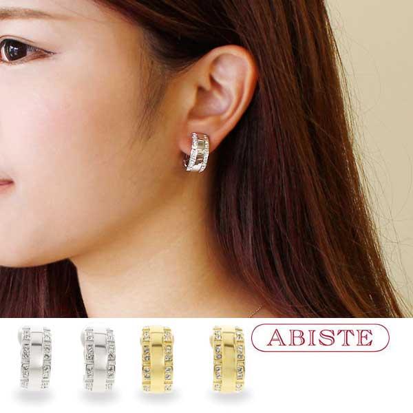 ABISTE(アビステ)スワロクリスタルハーフフープイヤリング 3181055 レディース 女性 人気 上品 大人 かわいい おしゃれ キラキラ アクセサリー ブランド 誕生日 ギフト 30代 50代