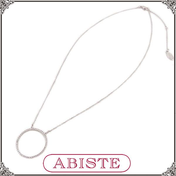 【送料無料】 ABISTE(アビステ) フープモチーフネックレス/シルバー 1200328 レディース 女性 人気 上品 大人 かわいい おしゃれ アクセサリー ブランド 誕生日 ギフト プレゼント ラッピング無料