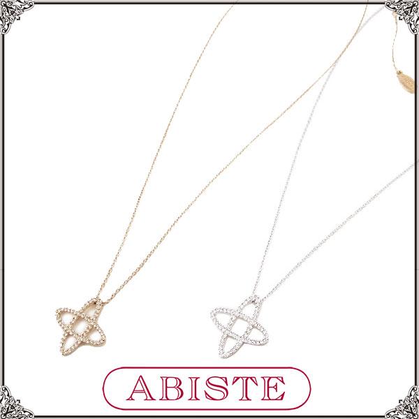 【送料無料】 ABISTE(アビステ) デザインネックレス/シルバー、ゴールド 1200330 レディース 女性 人気 上品 大人 かわいい おしゃれ アクセサリー ブランド 誕生日 ギフト プレゼント ラッピング無料