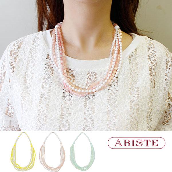 【WEB限定】ABISTE(アビステ)ウンゲルヴィンテージビーズネックレス 1170574 レディース 女性 人気 上品 大人 かわいい おしゃれ キラキラ アクセサリー ブランド 誕生日 ギフト 30代 40代