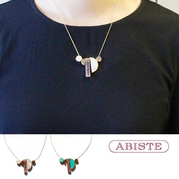 ABISTE(アビステ)MOP×天然石デザインネックレス 1181014 レディース 女性 人気 上品 大人 かわいい おしゃれ キラキラ アクセサリー ブランド 誕生日 ギフト 30代 40代