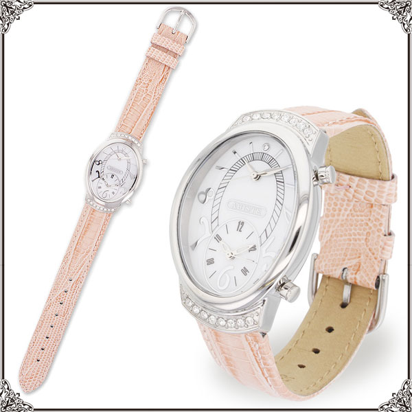★ ★ ABISTE (Abbott) over face dual watch belt watch / ivory, pink and yellow 9150036