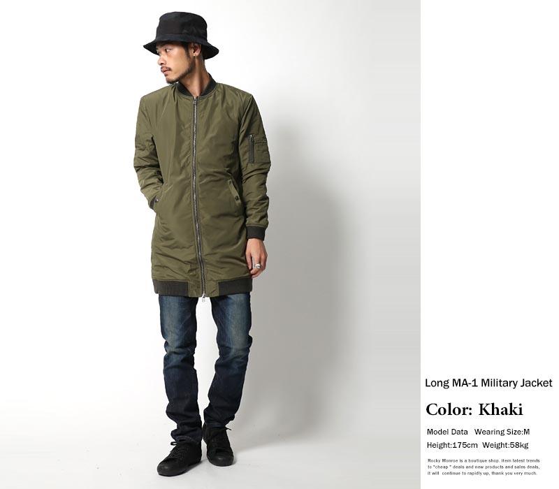 abito2011 | Rakuten Global Market: Ma-1 men long-length military ...