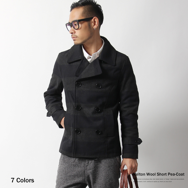 abito2011 | Rakuten Global Market: P coat mens pea coat Melton ...