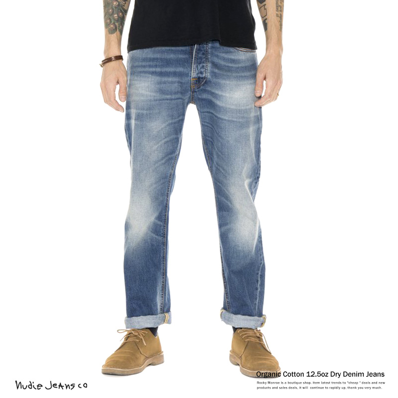 Nudie Jeans ヌーディージーンズ 112185 LOOSE LEIF True Indigo ルーズリーフ 生デニム リジット 6431