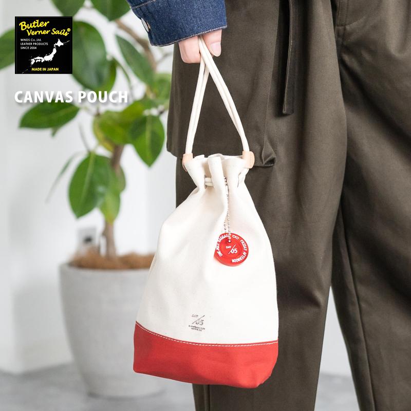 ミニバッグ メンズ 日本製 国産 Butler Verner Sails バトラーバーナーセイルズ キャンバス生地 巾着袋 6500 ストアー バッグ 送料無料新品 トートバッグ ワンマイルバッグ バッグインバッグ JA-1979