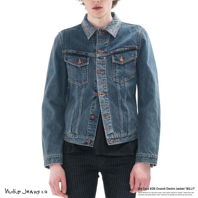 Nudie Jeans ヌーディージーンズ 160468 44161-5020 デニムジャケット メンズ BILLY ジージャン 3rdモデル ウォッシュ加工 6713