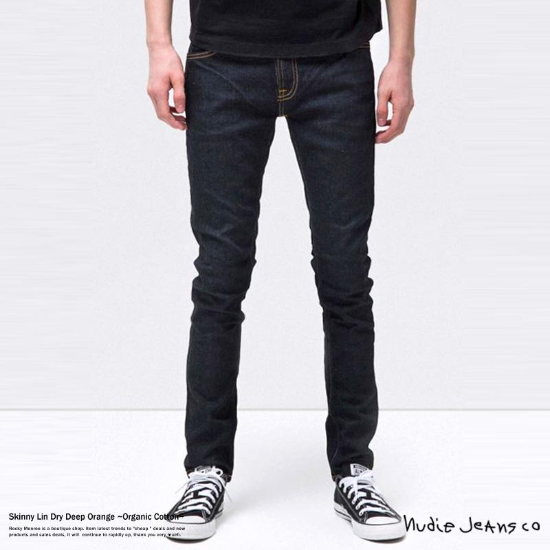 Nudie Jeans ヌーディージーンズ 112083032 Skinny Lin メンズ 生デニム ストレッチ オーガニックコットン スキニー 576 DRY DEEP ORANGE 8102
