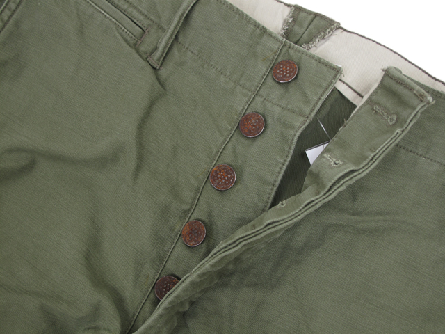 RRL (double RL) 13Stars Military Pants double are RRL military underwear