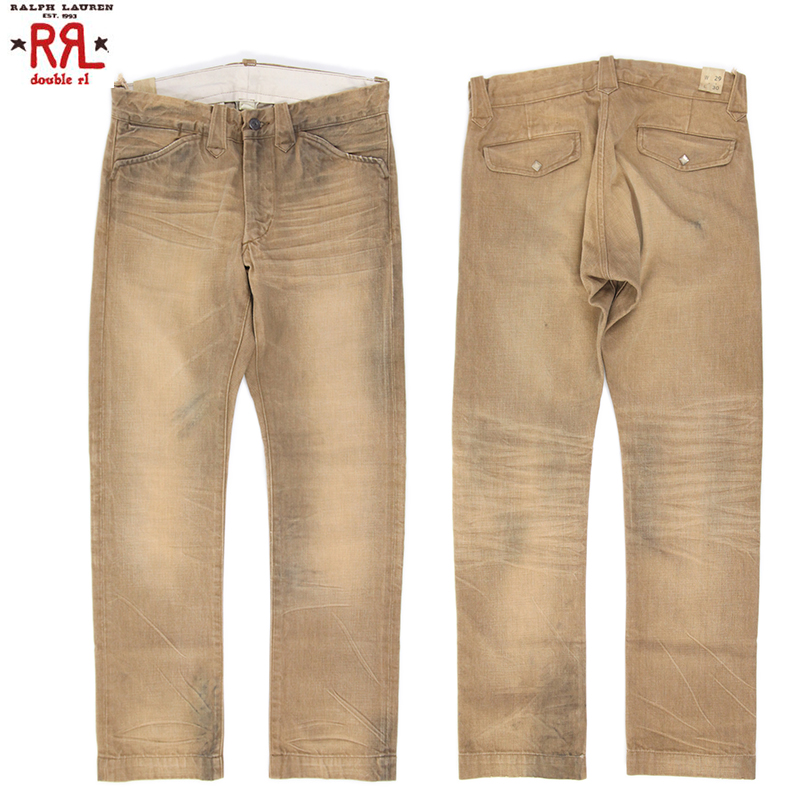 Abjnuts Rrl Double Rl Brown Denim Ranch Jeans Double Ardell Brown