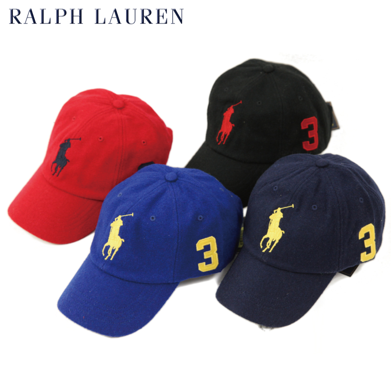Polo by Ralph Lauren Big Pony Wool Baseball Cap US polo Ralph Lauren match  pony cap