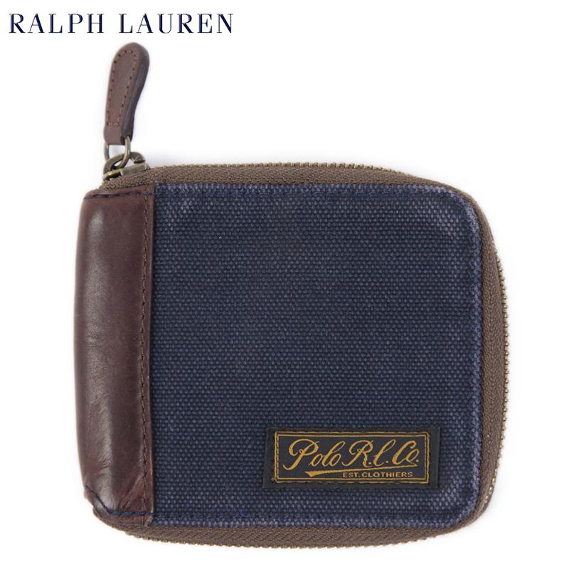 Brauch attraktive Farbe bester Service POLO Ralph Lauren CANVAS ZIP WALLET US polo Ralph Lauren canvas leather  wallet wallet