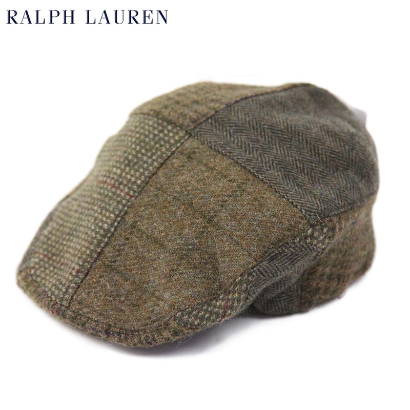 8d462bc05 abjnuts  Polo by Ralph Lauren Patchwork Tweed Driving Cap US Polo ...
