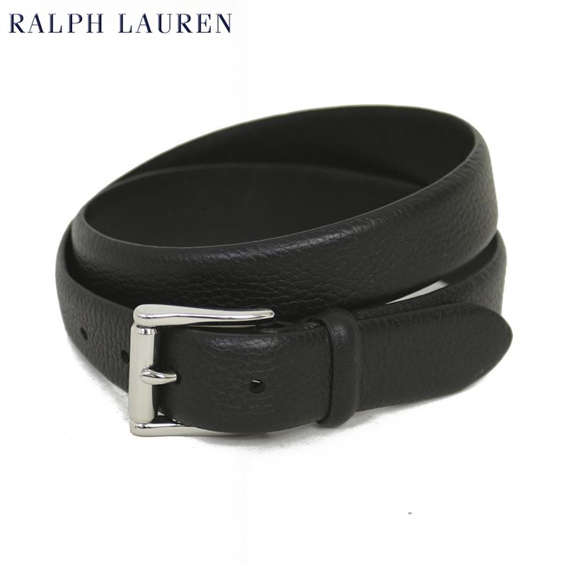 ポロ ラルフローレン メンズ  ブラック レザーベルト POLO Ralph Lauren Leather Belt US