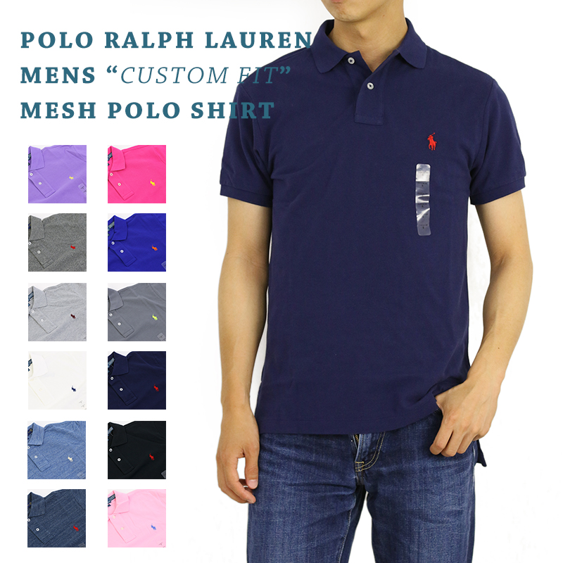 150276a93 Ralph Lauren Men s  quot CUSTOM FIT quot  Mesh Polo US polo Ralph Lauren  custom fitting ...
