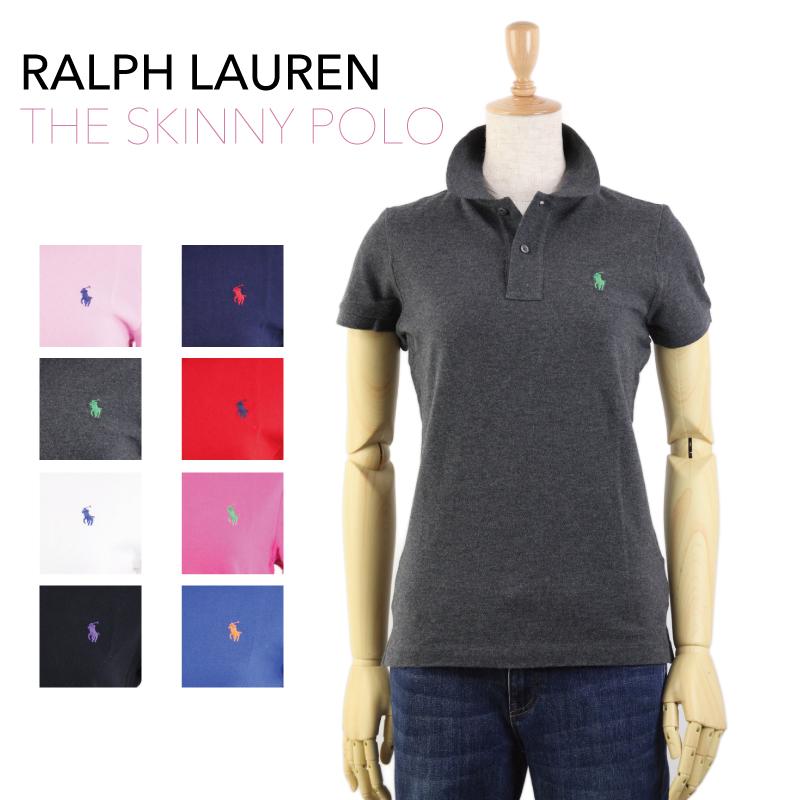 USラルフローレン定番の無地鹿の子ポロシャツ Ralph Lauren Lady's