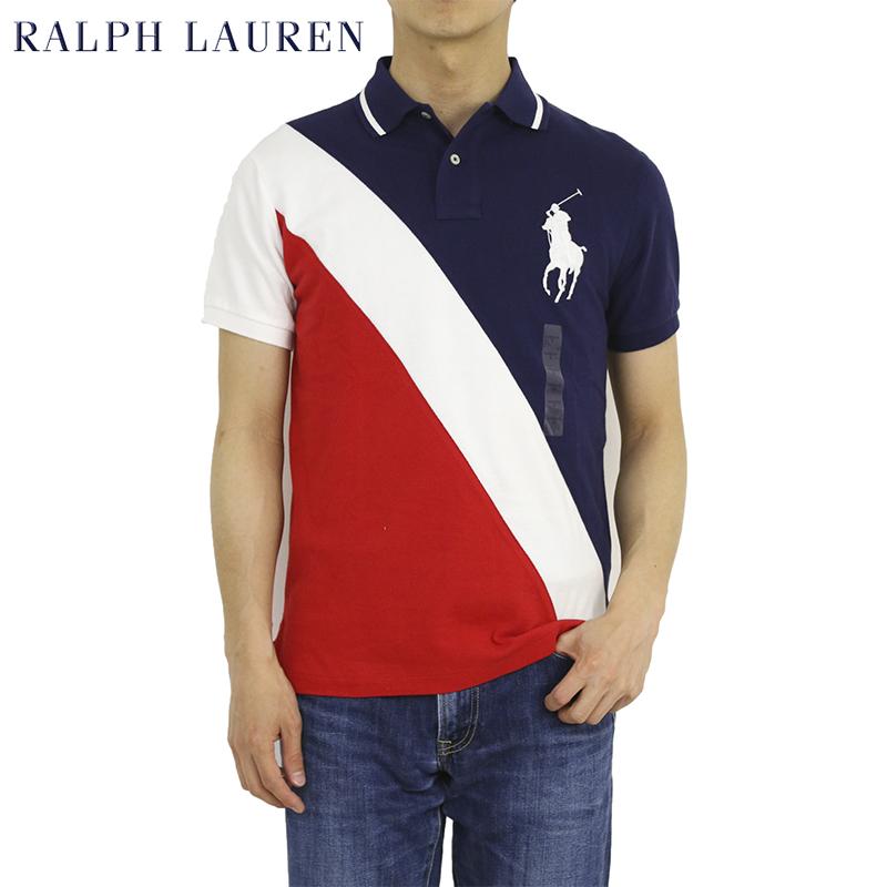 ポロ ラルフローレン メンズ カスタムフィット ビッグポニー刺繍 ポロシャツ POLO Ralph Lauren Men's