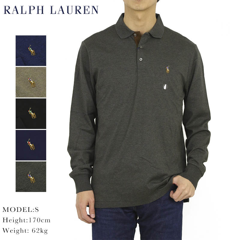 8162804121 Polo Ralph Lauren classical music fitting soft touch cotton jersey long  sleeves polo shirt POLO Ralph Lauren Men s CLASSIC FIT Cotton Jersey l s Polo  Shirt ...