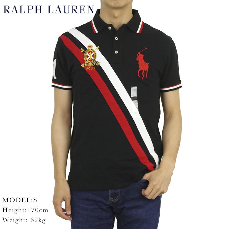 ポロ ラルフローレン カスタムスリムフィット 鹿の子 ポロシャツ エンブレム ビッグポニー刺繍 POLO Ralph Lauren Men's CUSTOM SLIM FIT USA Polo Shirt US