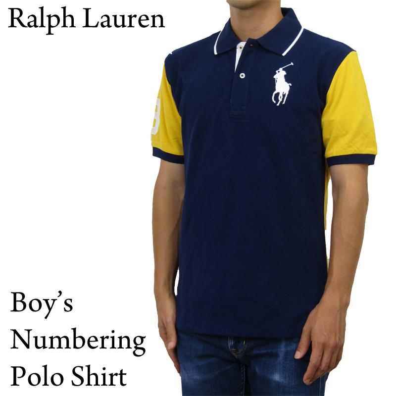 激安価格と即納で通信販売 人気のボーイズサイズ ビッグポニーナンバリング鹿の子生地ポロシャツ Ralph Lauren Boy's Big Pony Numbering Shirts ポロシャツ ラルフローレン 上品 USボーイズ ナンバリング Mesh ビッグポニー POLO