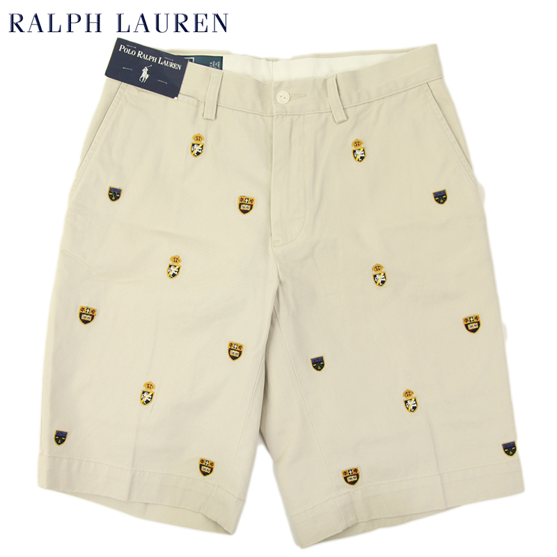 promo code for ralph lauren mens crest chino shorts us polo ralph lauren  emblem embroidered shorts 727e70347614c