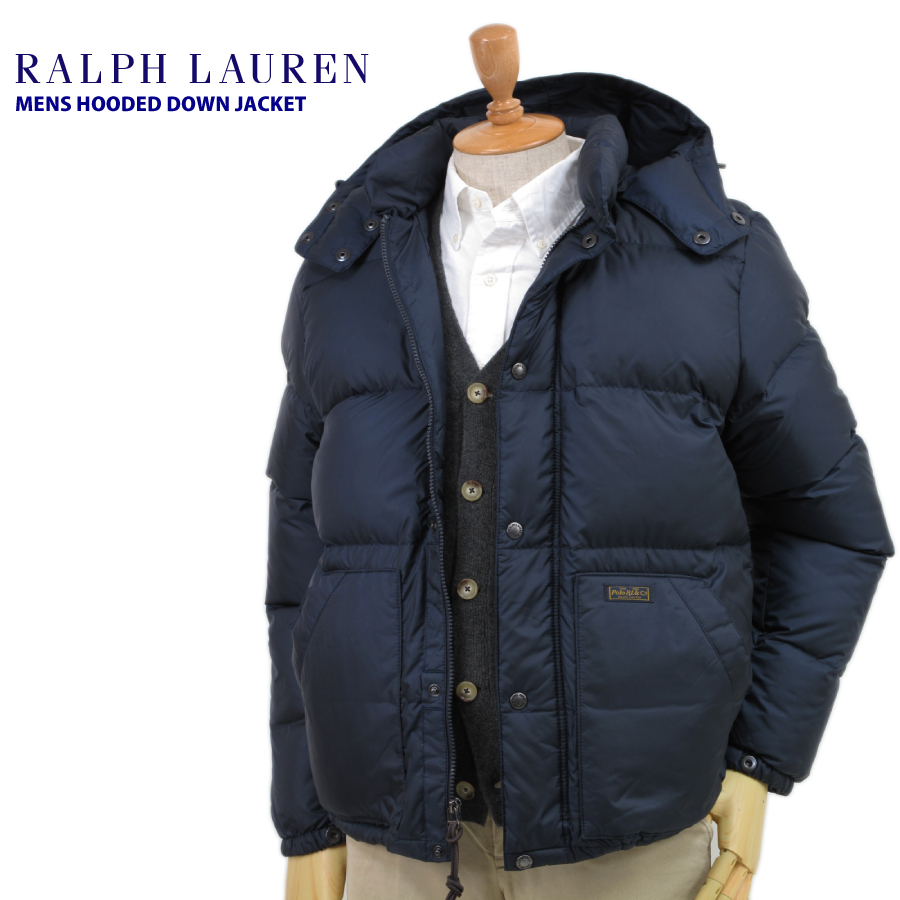 60ae9e0f5e POLO by Ralph Lauren Men's Hooded Down Jacket NAVY US Polo Ralph Lauren  men's Hooded down jacket