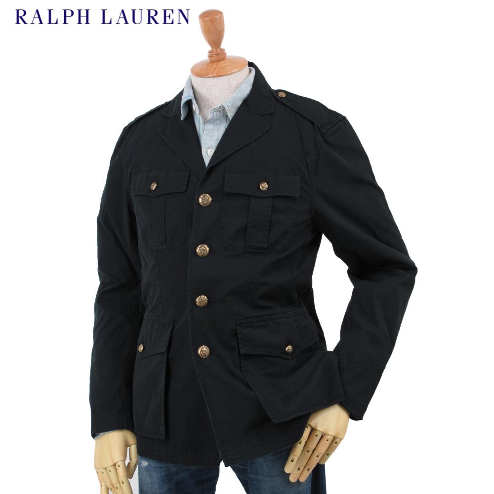 Ralph Lauren Men's Naval Officer Jacket US Polo Ralph Lauren gold buttons  military jacket