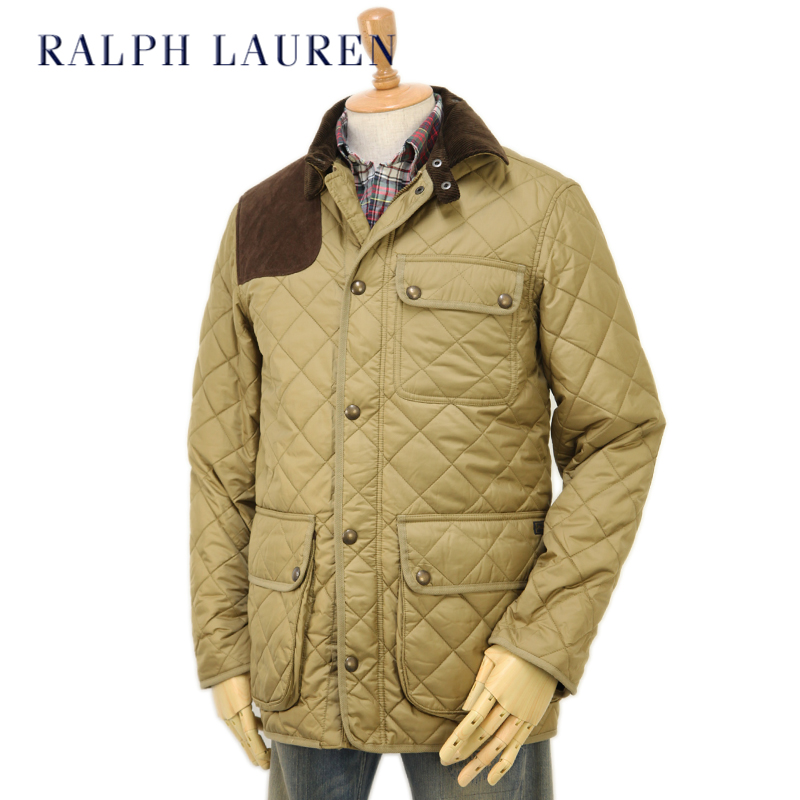95f752bad70a abjnuts  Ralph Lauren Men s Leather Patch Quilted Jacket US Ralph ...