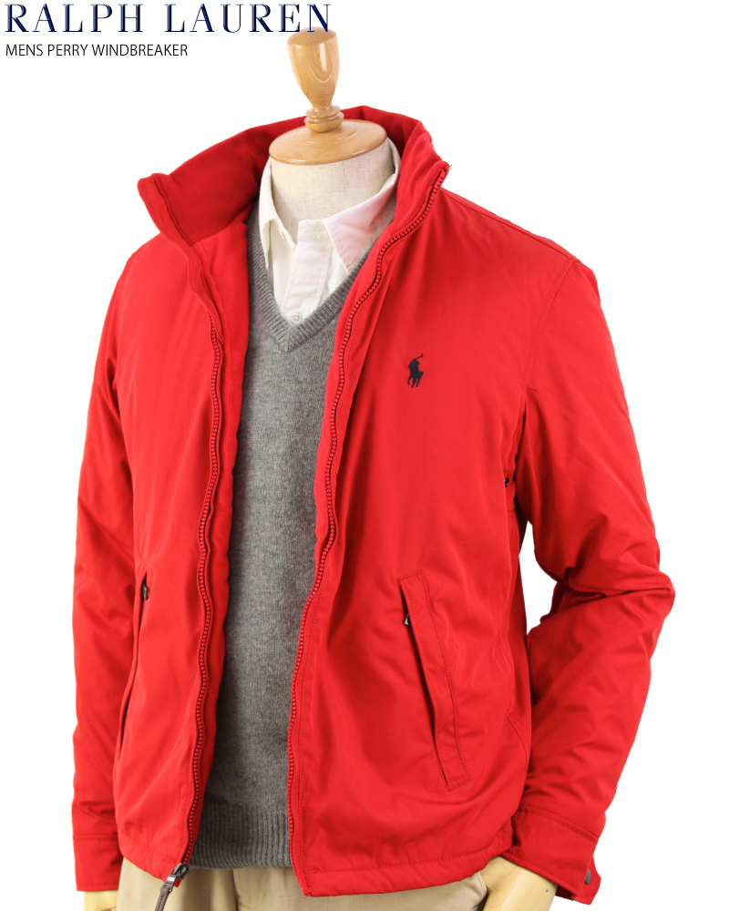 a59313731e Ralph Lauren Men's Perry Windbreaker (RED) US polo Ralph Lauren fleece  liner windbreaker jacket