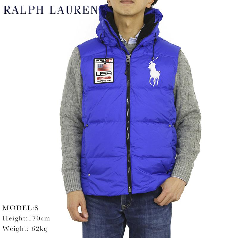 POLO by Ralph Lauren Men's Big Pony Down Vest USポロ ラルフローレン フード付 ダウンベスト SALE