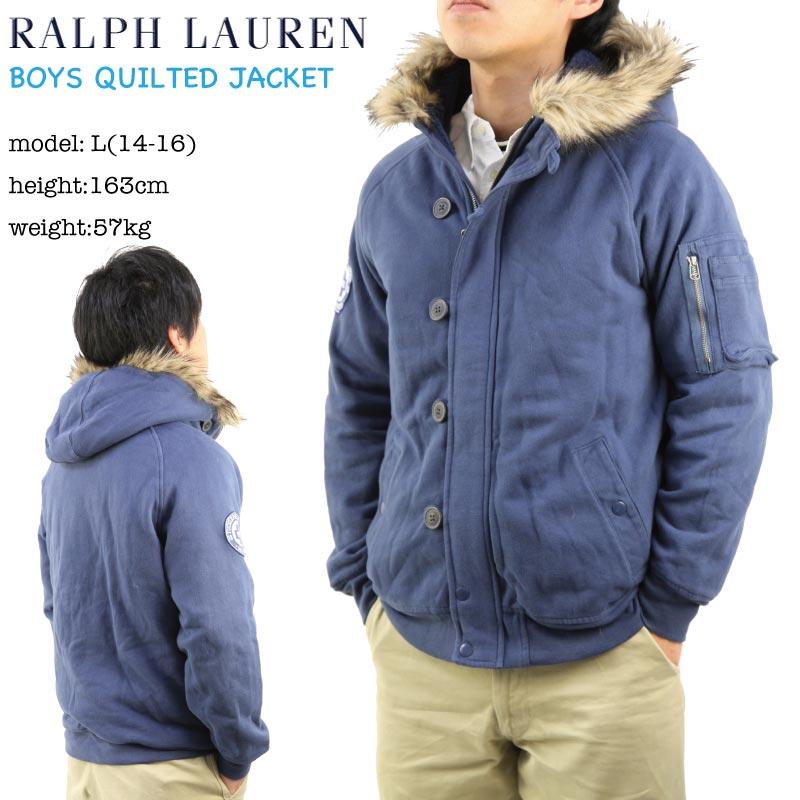 POLO by Ralph Lauren Boys Sweat Military Jacket USラルフローレン ボーイズサイズのスウェットのミリタリージャケット
