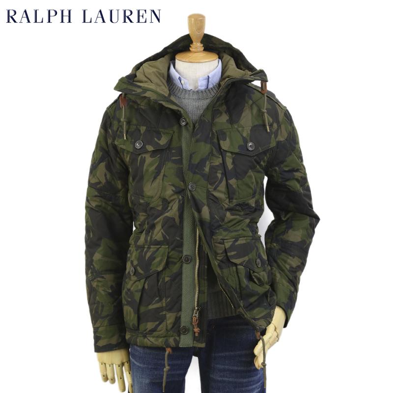 Ralph Lauren Men's Garrison Camo Combat Jacket USラルフローレン メンズ 迷彩 キルティング ミリタリージャケット