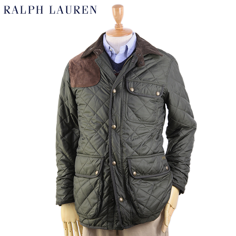 Men's Lauren Quilted Leather Jacket Ralph Mens Patch Us dCroxBe