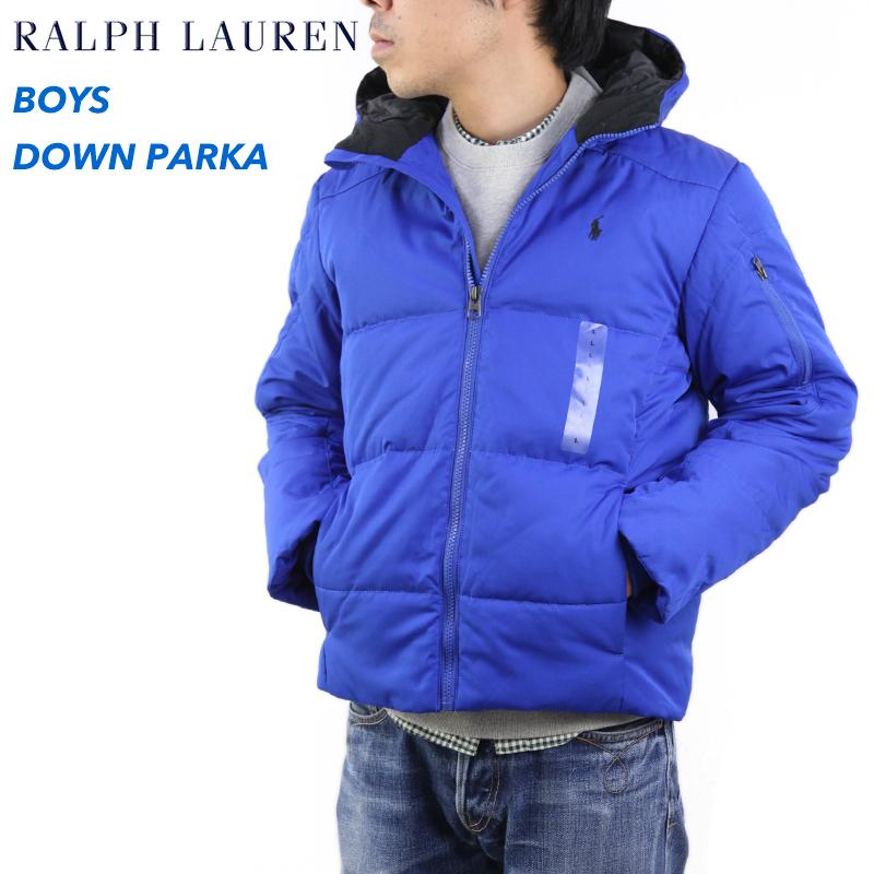 ポロ ラルフローレン ボーイズサイズのダウンジャケットPOLO by Ralph Lauren Boy's Down Parka US