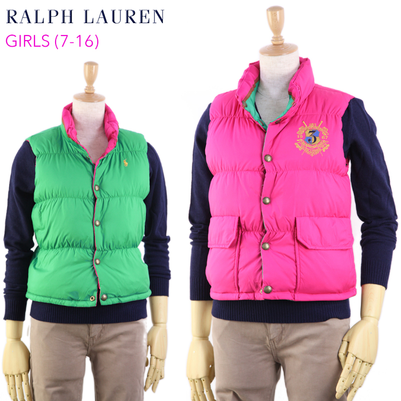 417ed948f abjnuts: POLO by Ralph Lauren Girls Reversible Down Vest US Ralph ...