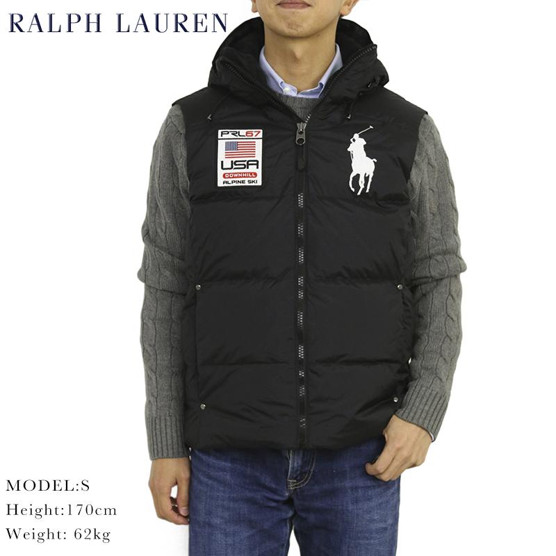 Lauren Polo Big By Pony Us Ralph Hooded Vest Men's Down qSUVpzM