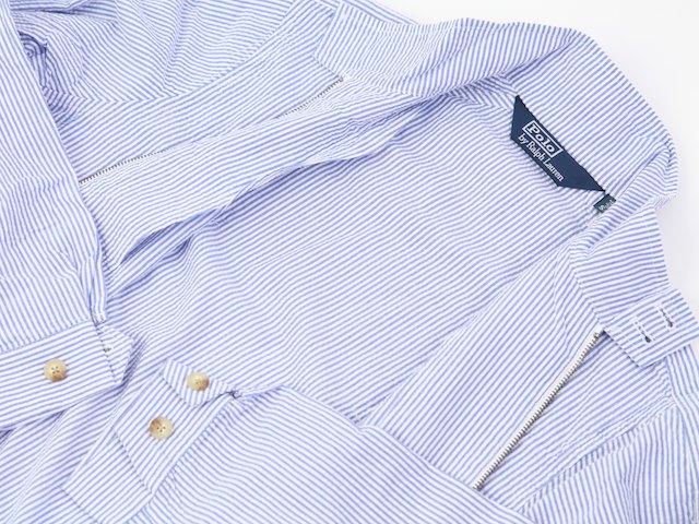 Ralph Lauren Men's Seersucker Harrington Jacket US Polo Ralph Lauren sea soccer Harrington jacket